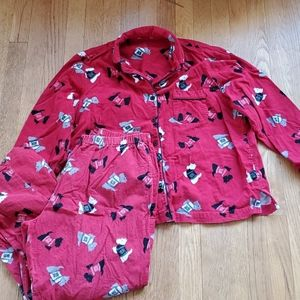 Scottie dog flannel pajama set L